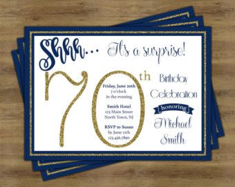 Surprise 40th Birthday Invitation Adult Birthday by StudioBaraBom