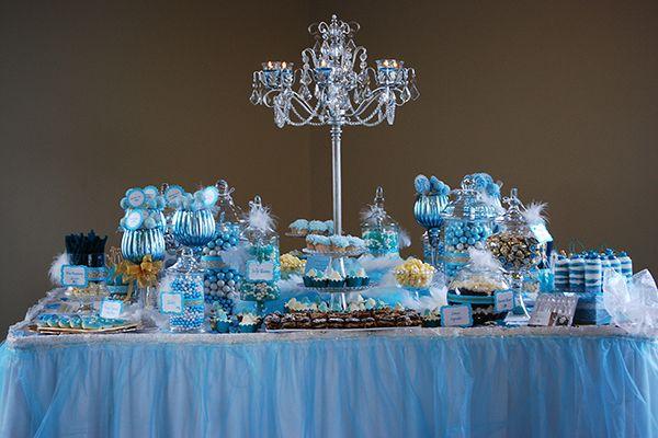 Blue And Gold Cinderella Bridal Shower Dessert Table Bridal Shower Desserts Table Cinderella Bridal Shower Bridal Shower Desserts