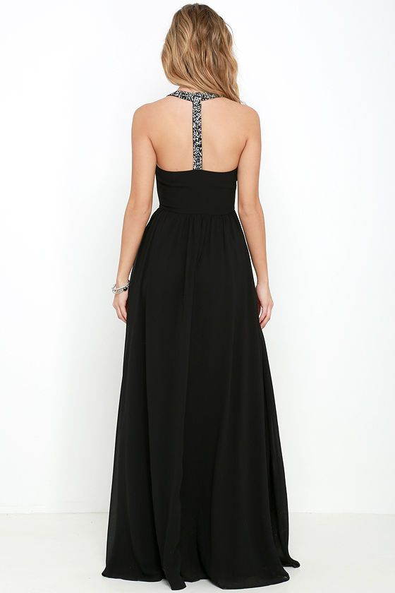6eaf01f5ce2 Cheerful Black Maxi Dress