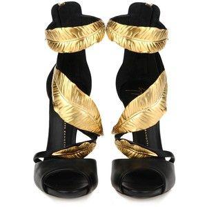 e61f509bca8d Gold Leaf Giuseppe Heels