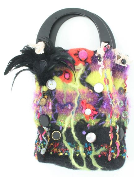 "Another ""Floral"" group bag. A deep carryall with exciting and exotic motif of SIBERIAN IRISES"