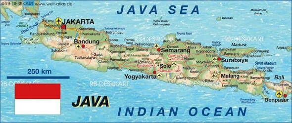 Pulau jawa jawa pinterest map of java indonesia map in the atlas of the world world atlas gumiabroncs Image collections