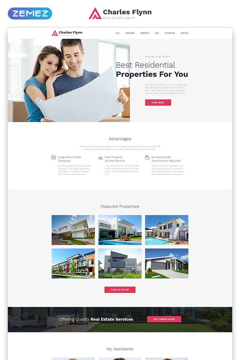 Charles Flynn Real Estate Agency Clean Html Landing Page Template Ad Estate Agency Re Real Estate Web Design Real Estate Landing Pages Real Estate Agency Real estate landing page template