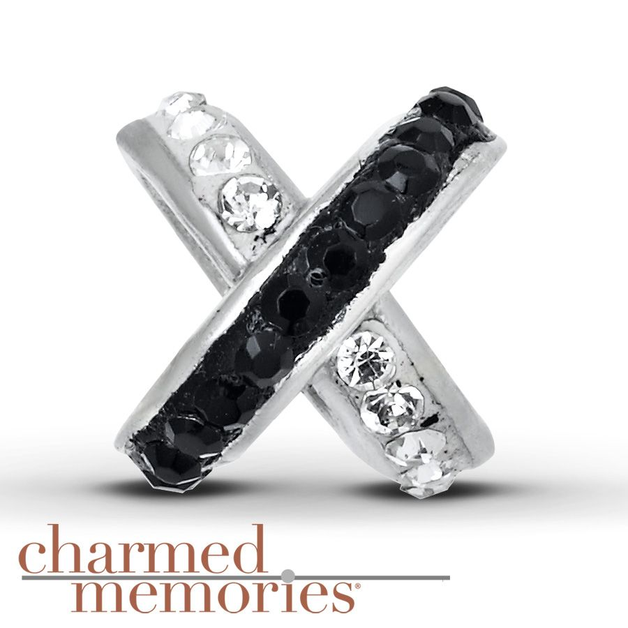 Charmed Memories Clear Crystal Charm Sterling Silver B8H2Ei