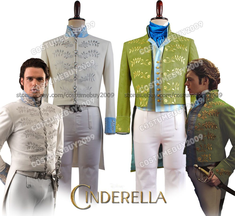 Cinderella 2015 the Movie Prince Charming Richard Madden COSplay Costume Attire