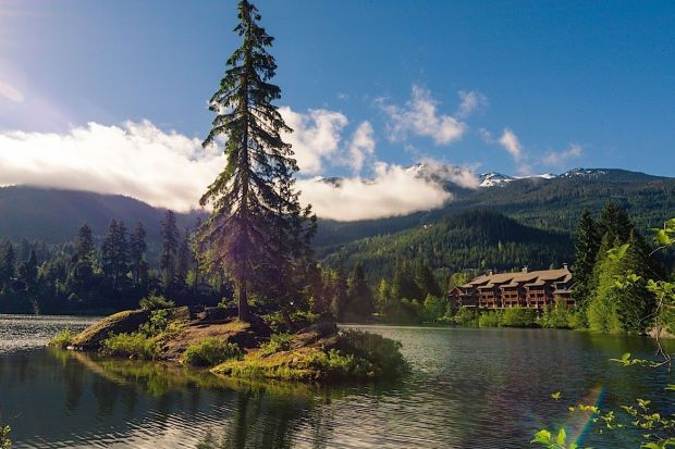 Nita Lake Lodge, Whistler, BC: imagine this with a thick blankie of sparkling white snow