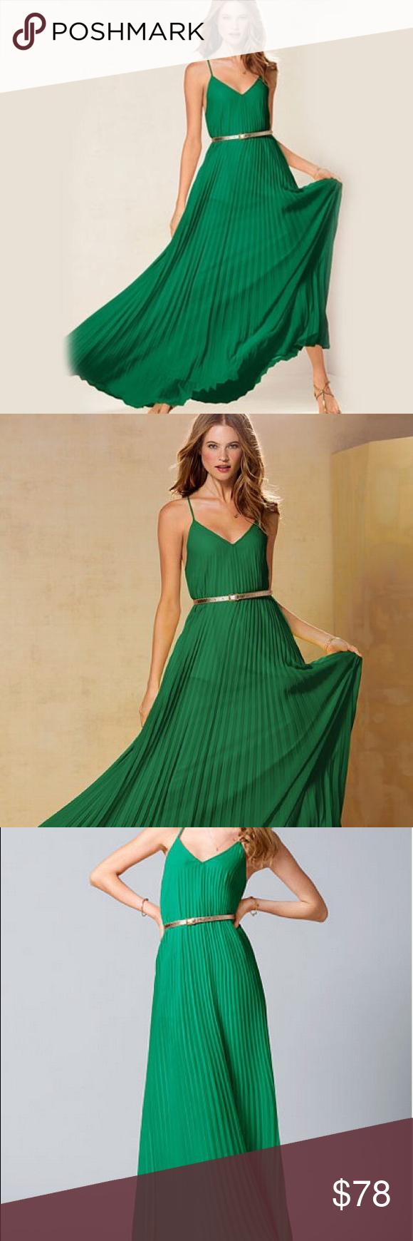 Nwot Victoria Secret Greed Pleated Maxi Pleated Maxi Victoria Secret Fashion [ 1740 x 580 Pixel ]