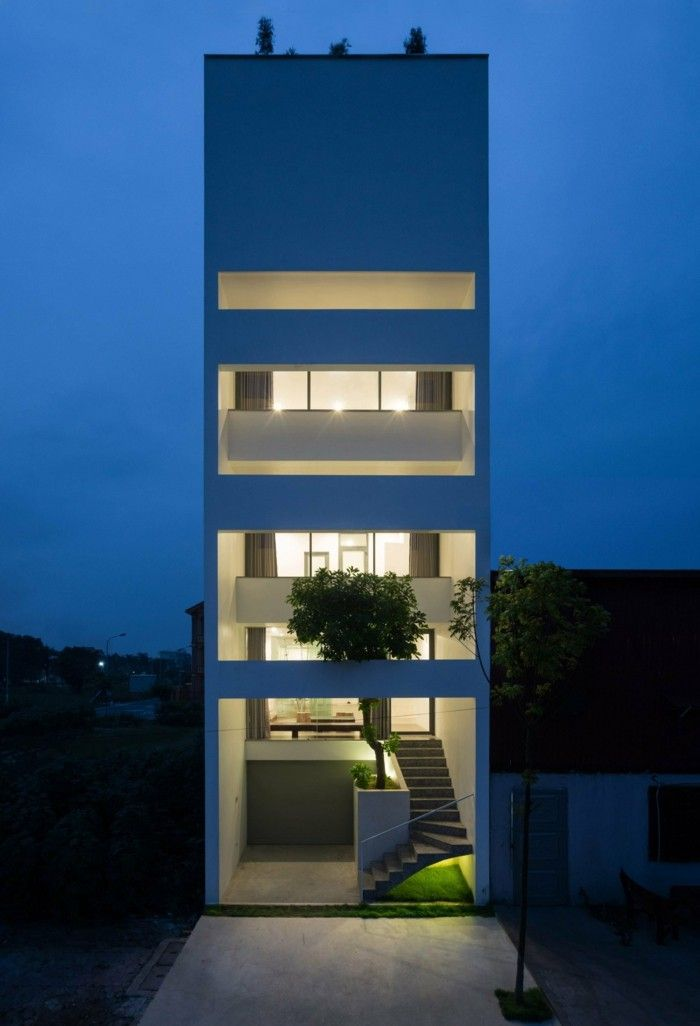 Moderne Architektur Aus Vietnam Als Beispiel Für Urbane
