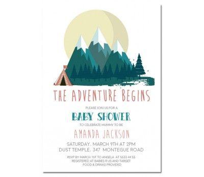 adventure begins baby shower invitations | baby shower ideas, Baby shower invitations
