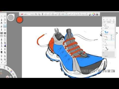 Autodesk Sketchbook Pro Shoe Sketch Sketchbook Pro Shoe Sketches Trending Shoes