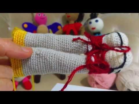 Amigurumi Bebekte Saç Yapımı : Amigurumi Örgü Örneği amigurumi organik bebek vücudu nasıl