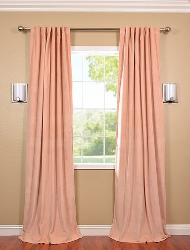 Petal Pink Velvet Blackout Curtains Curtains Pinterest