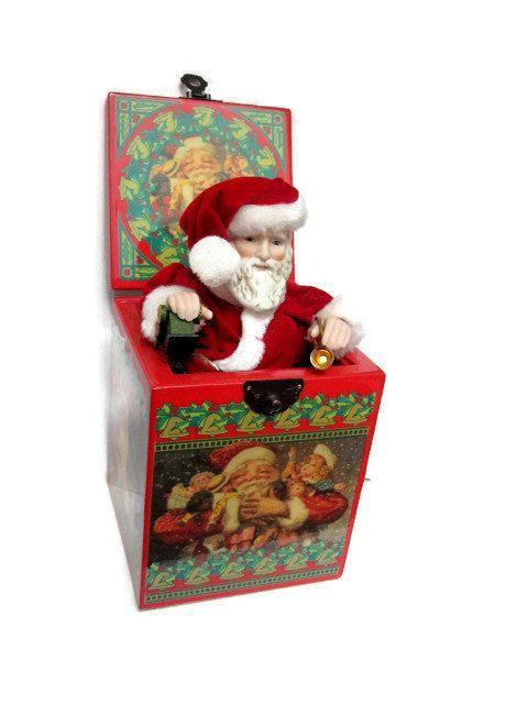 Musical Santa Jack in the Box St Nicholas by PoppyLesti on Etsy ...