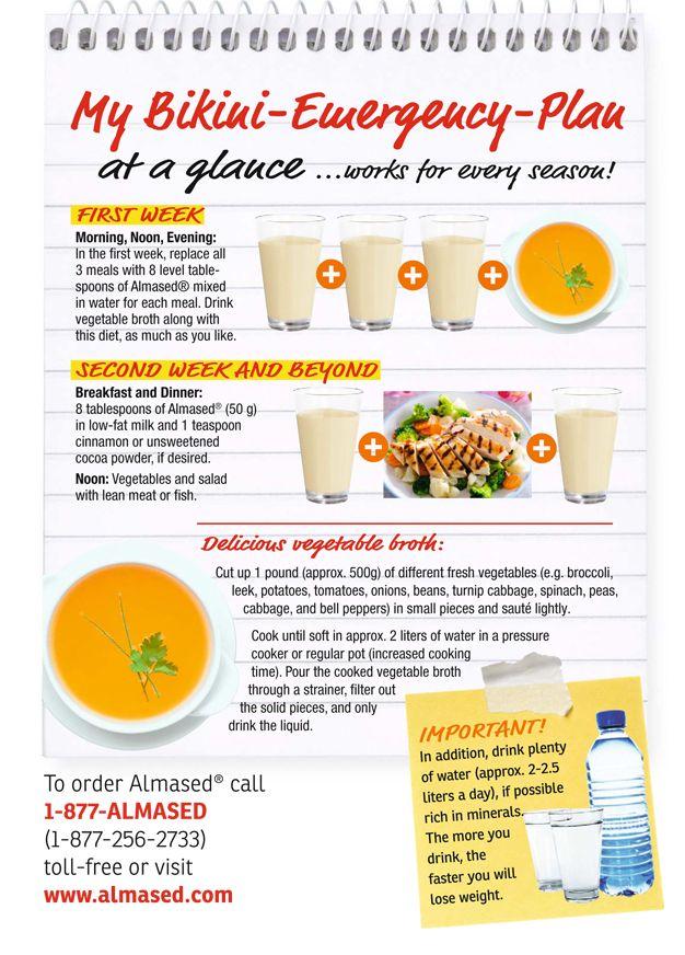Almased Bikini Emergency Plan | diet or die | Pinterest | The ...