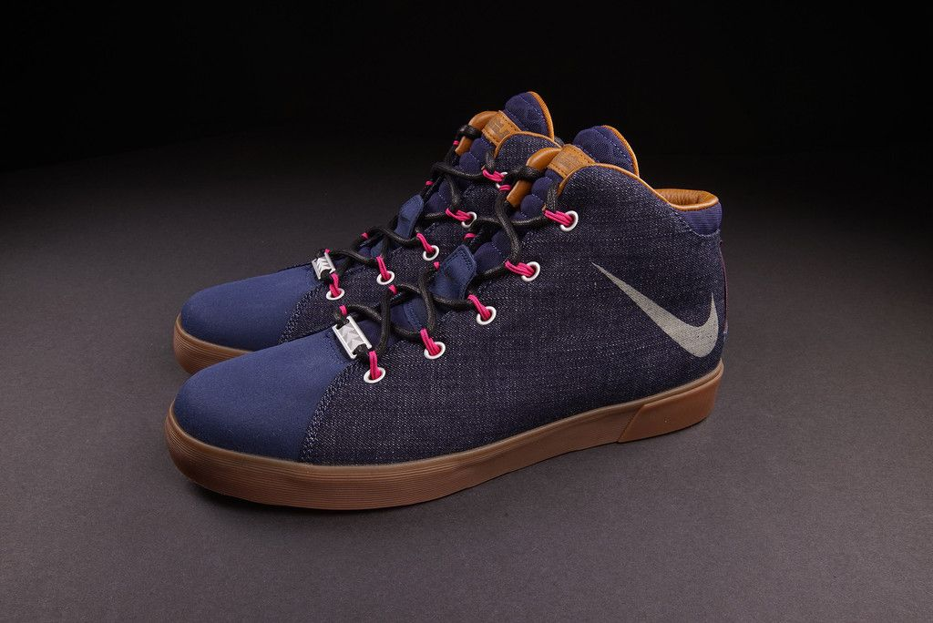 """Nike and LeBron James have once again wrapped the upper of one of their  shoes in denim, this time giving us the Nike LeBron 12 NSW Lifestyle  """"Denim""""."""