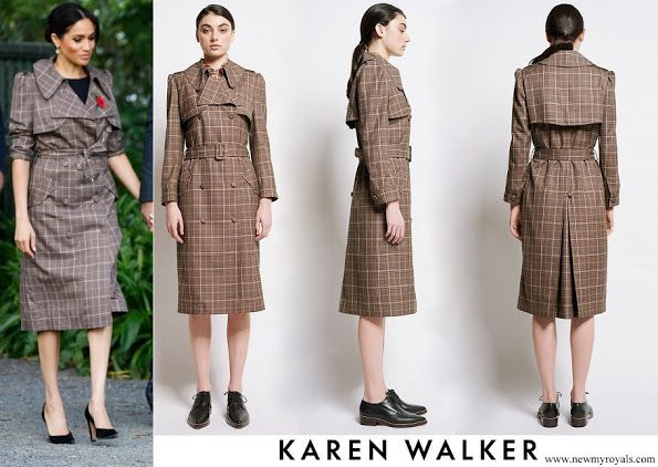 0d4529e45f1 On the first day in New Zealand Duchess Meghan had Karen Walker Banks  Trench Coat