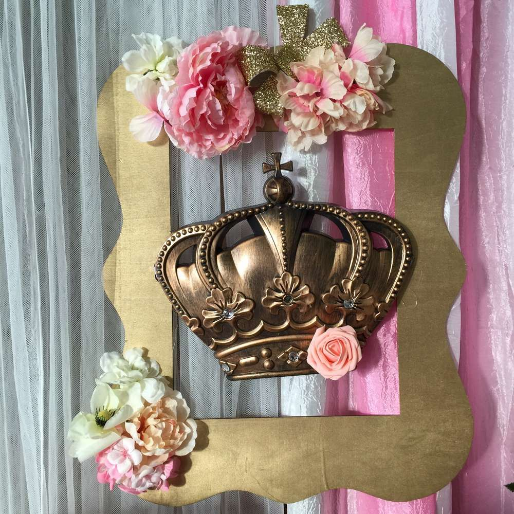 Glam Decorations At A Royal Princess Baby Shower Party! See More Party  Planning Ideas At