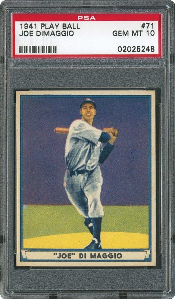 1941 Play Ball Joe Dimaggio Psa 10 Vintage Baseball Cards