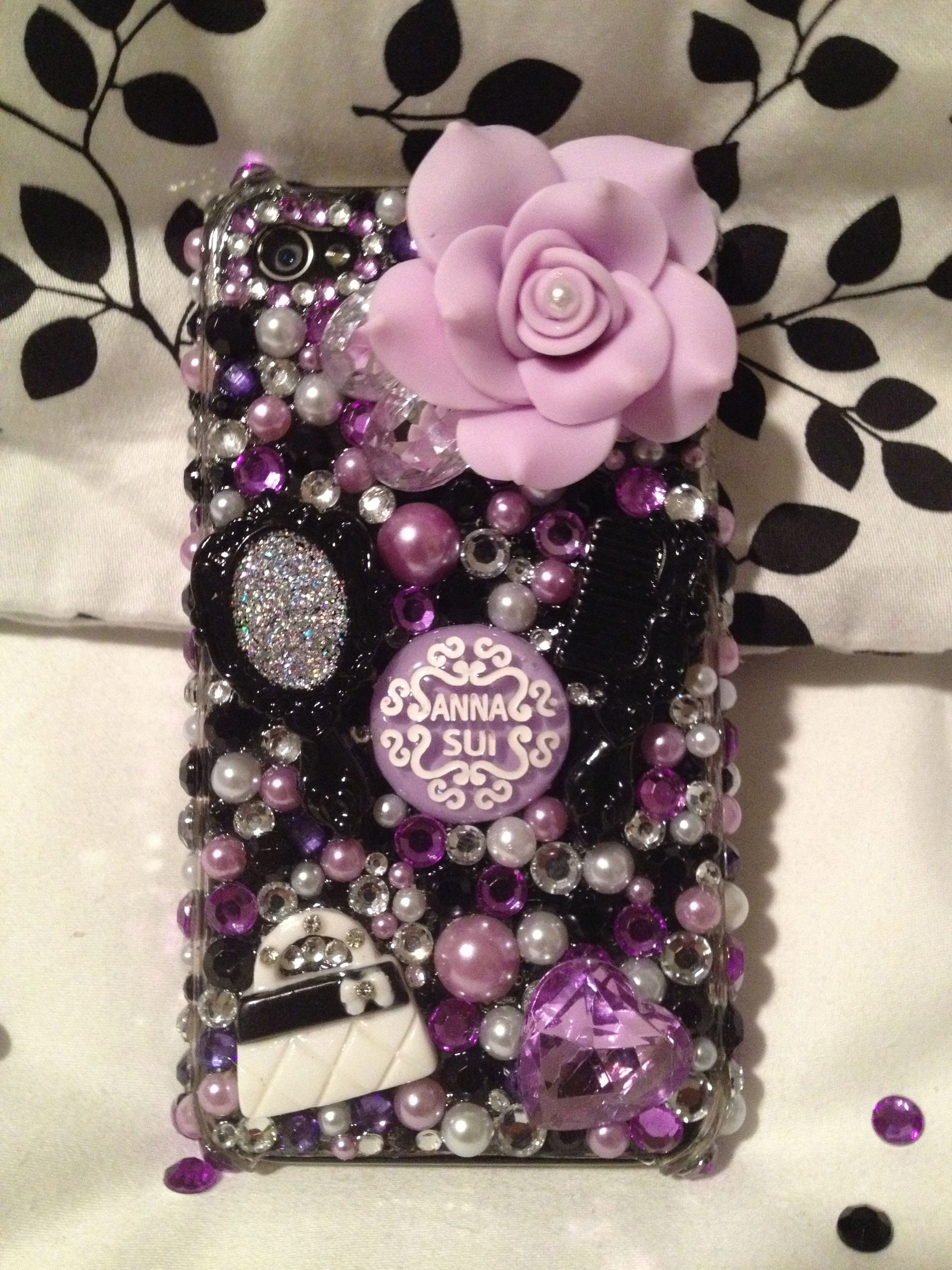 Beautiful Purple Blingaholic Cell Phone Case. Order your custom case: www.etsy.com/... or Facebook Pg: www.facebook.com/...