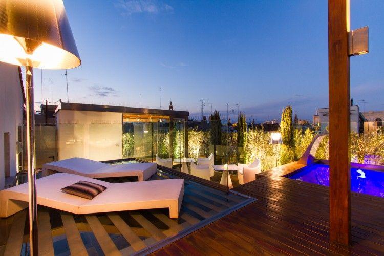 Terraza Atico Plaza De La Reina Ii Vlc Valencia Luxury Apartment Valencia Terrace