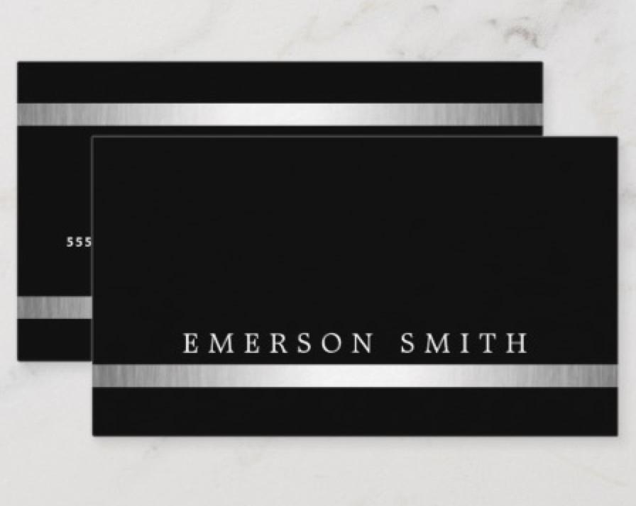 Stylish Black Classy Silver Gradient Border Business Card Zazzle Com Business Cards Elegant Elegant Business Cards Minimalist Business Cards