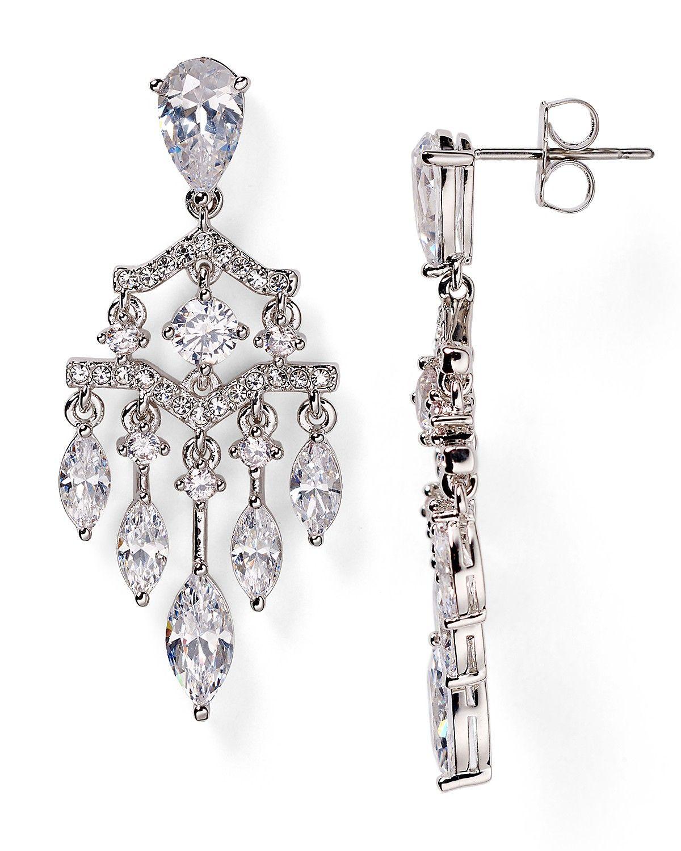 Nadri Cubic Zirconia Chandelier Earrings Bloomingdale S Online Earrings Evening Jewelry Pretty Earrings