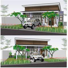 | rumah 3kt dg atap miring 1 arah di tanah 12 x 17 m