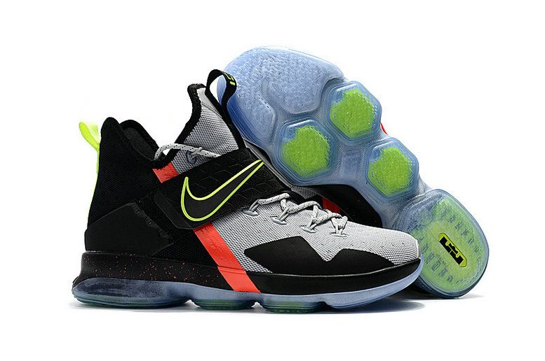 top fashion 0e310 106e9 New LBJ Sneakers LeBron 14 XIV Christmas Day Of Nowhere Grey Black Vol  Orange