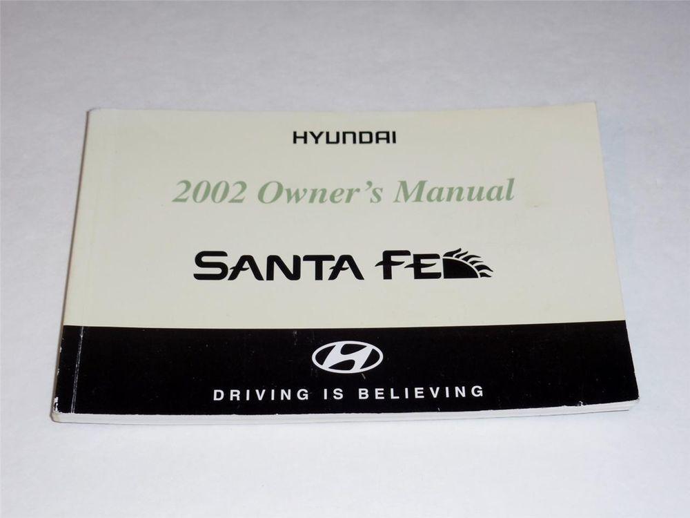 2002 hyundai santa fe owners manual book guide owners manuals rh pinterest com 2002 hyundai santa fe repair manual free download 2002 hyundai santa fe repair manual free download
