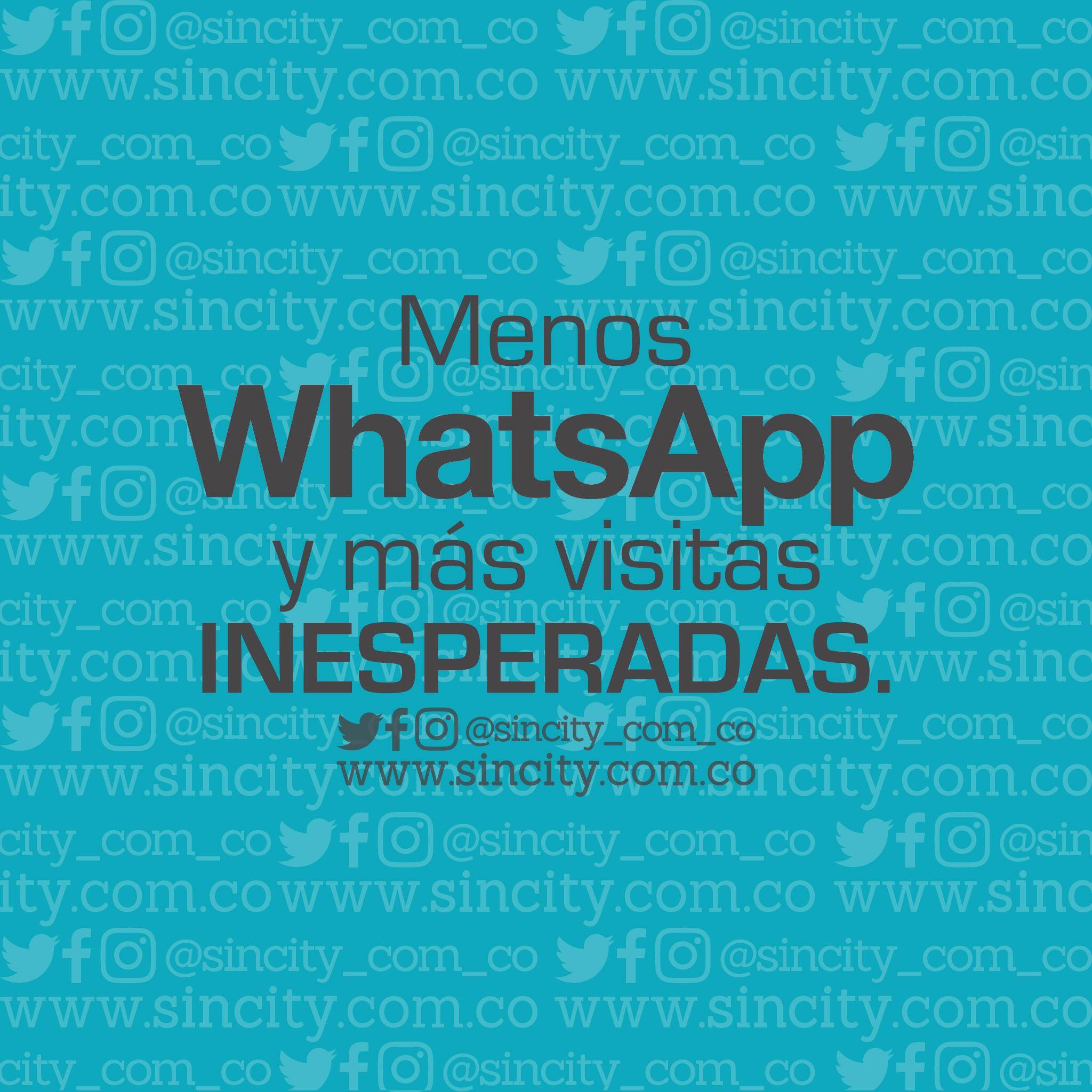 ¡Eso!  #frases #frasessincity #sincity #sincitycolombia #colombia #whatsapp #menoswhatsapp #visita #visitas #visitasinesperadas #esoqueremos