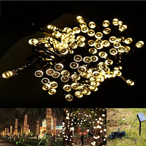 ELlight 22m 72ft 200LED Solar Lights ,Waterproof, 8 Modes Fairy - solar christmas decorations