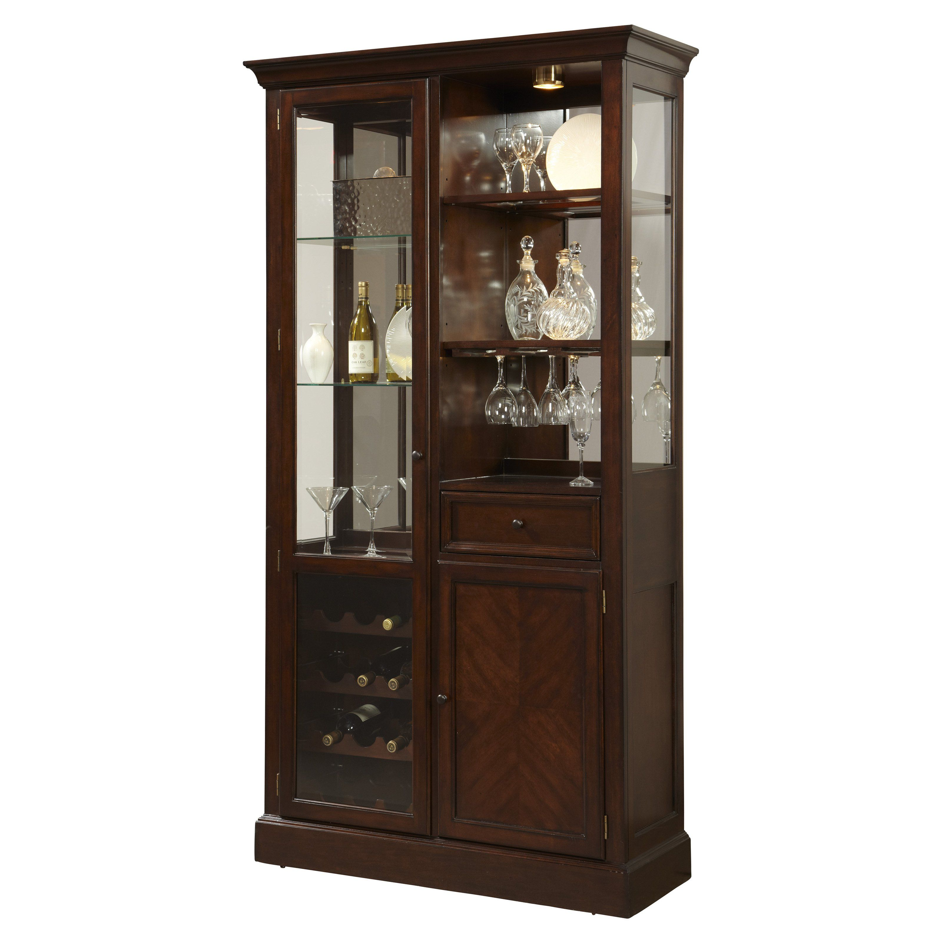 Have to have it Pulaski Dark Wood Curio Bar Cabinet $1419 99
