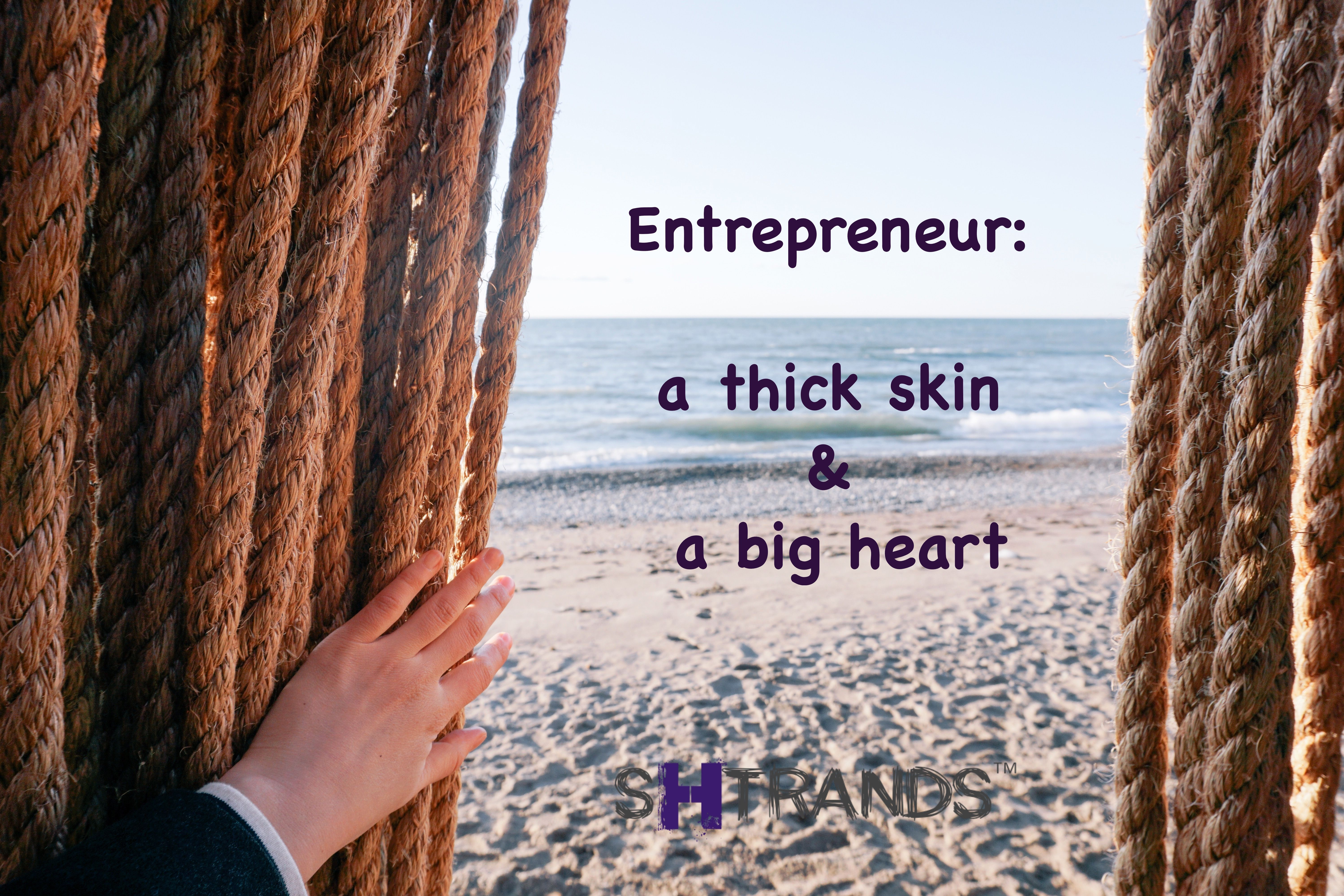 Thick skin helps us stay on track during times of criticisms, rejections, conflicts and in general tough times . The big heart helps us love the people who support us, those early customers who will always be so special, and even smile to our enemies during good or bad times. #startuplife #hairgoals #haircrush