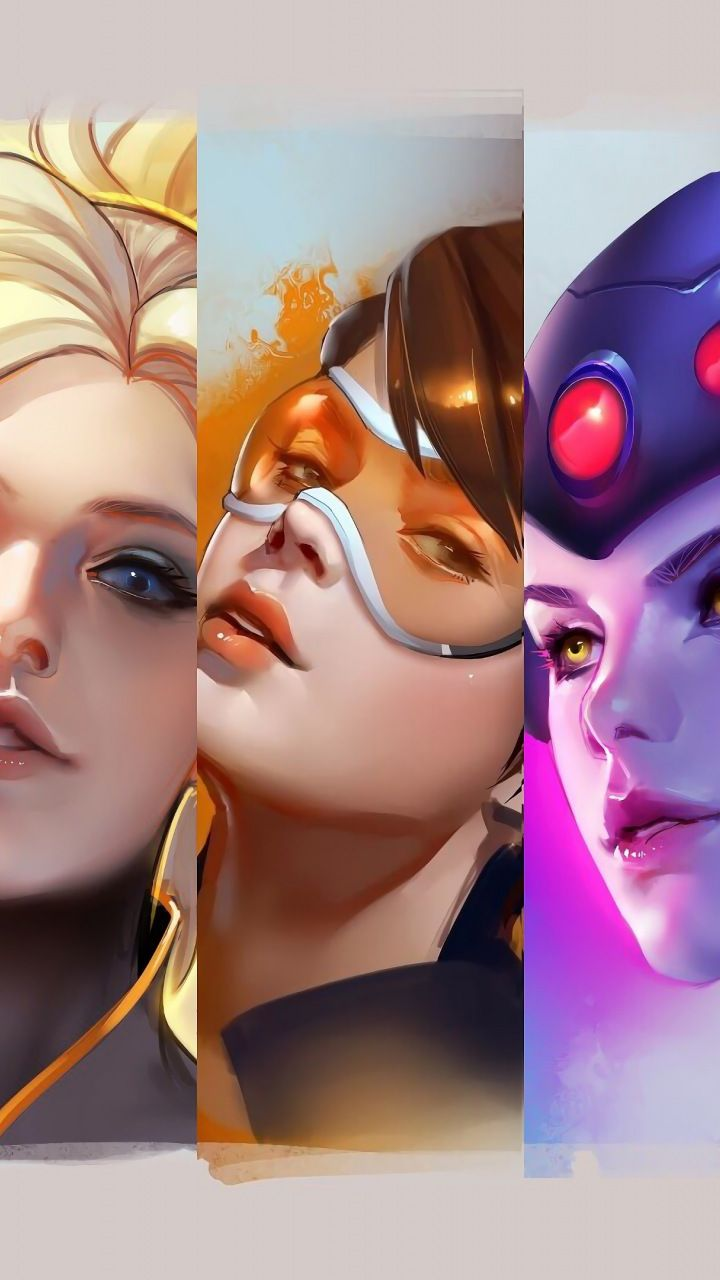 Download 720x1280 Wallpaper Overwatch All Girl Collage Samsung