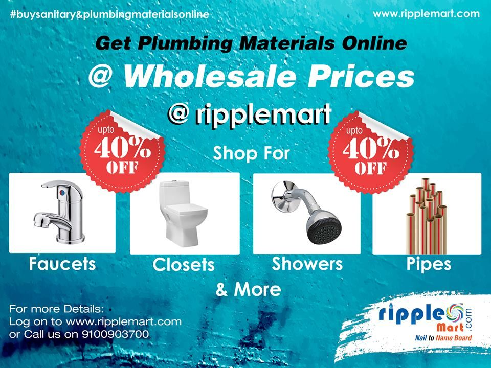 Grand Summer Sale Plumbing Materials Online Best Prices In Market Avail Up To 40 Special Discount Buy Sanitar Plumbing Sanitary Building Materials