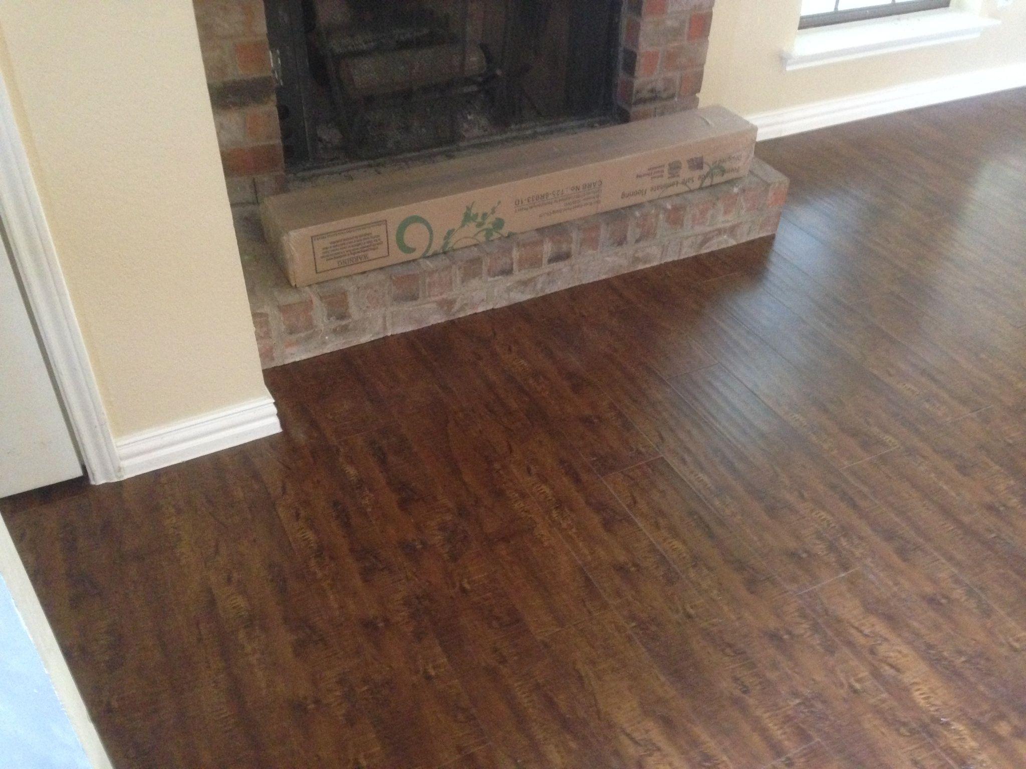 Undercut Fireplace With Laminate Floor Luxury Vinyl Plank Flooring Luxury Vinyl Plank Flooring