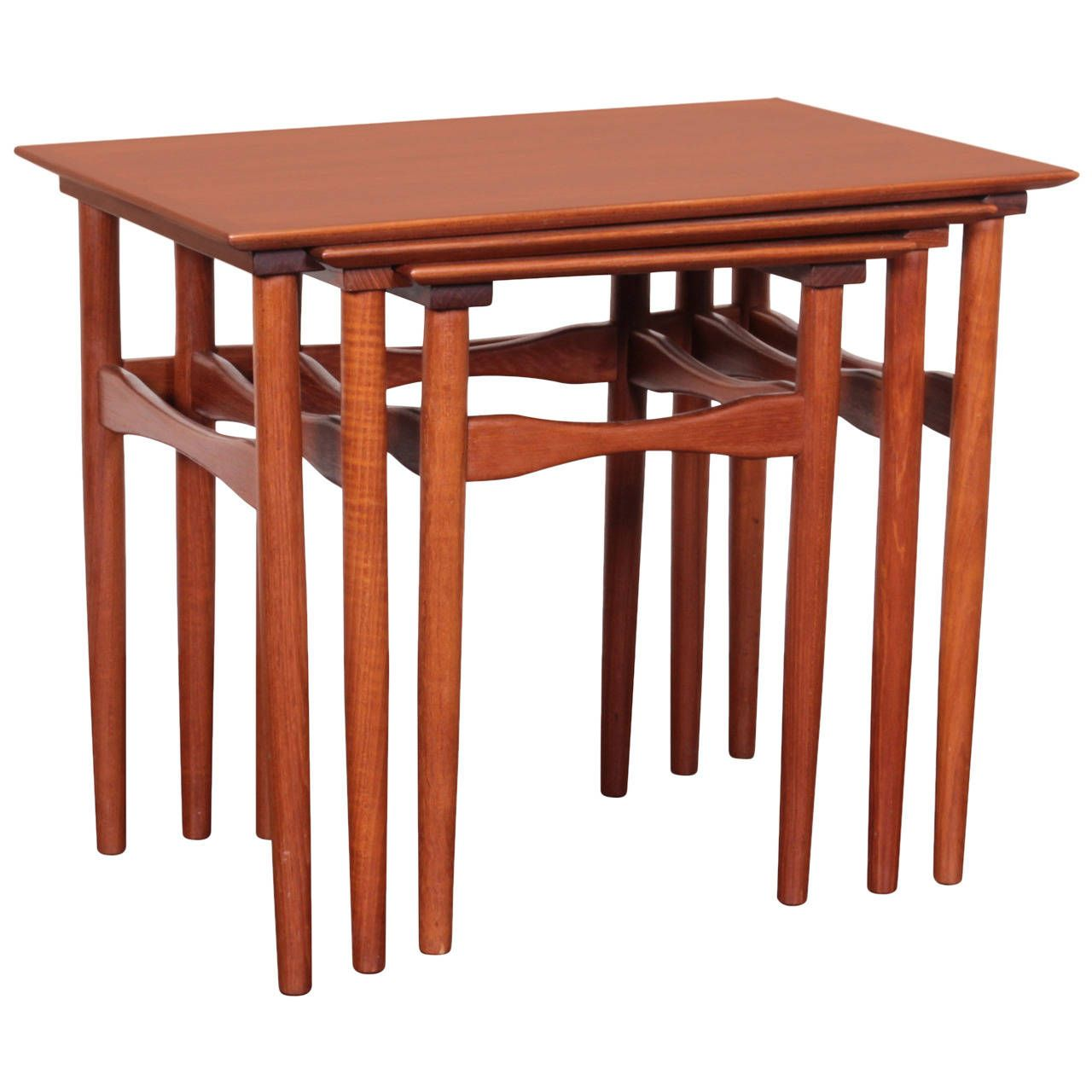 View This Item And Discover Similar Nesting Tables And Stacking Tables For  Sale At   Comprising Three Tables Of Graduated Size, Each Table With  Rectangular ...