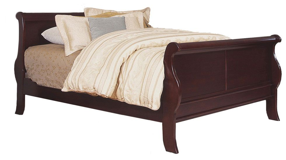 Louis Phillipe Full Size Sleigh Bed, Atlantic Furniture And Bedding Jacksonville Nc