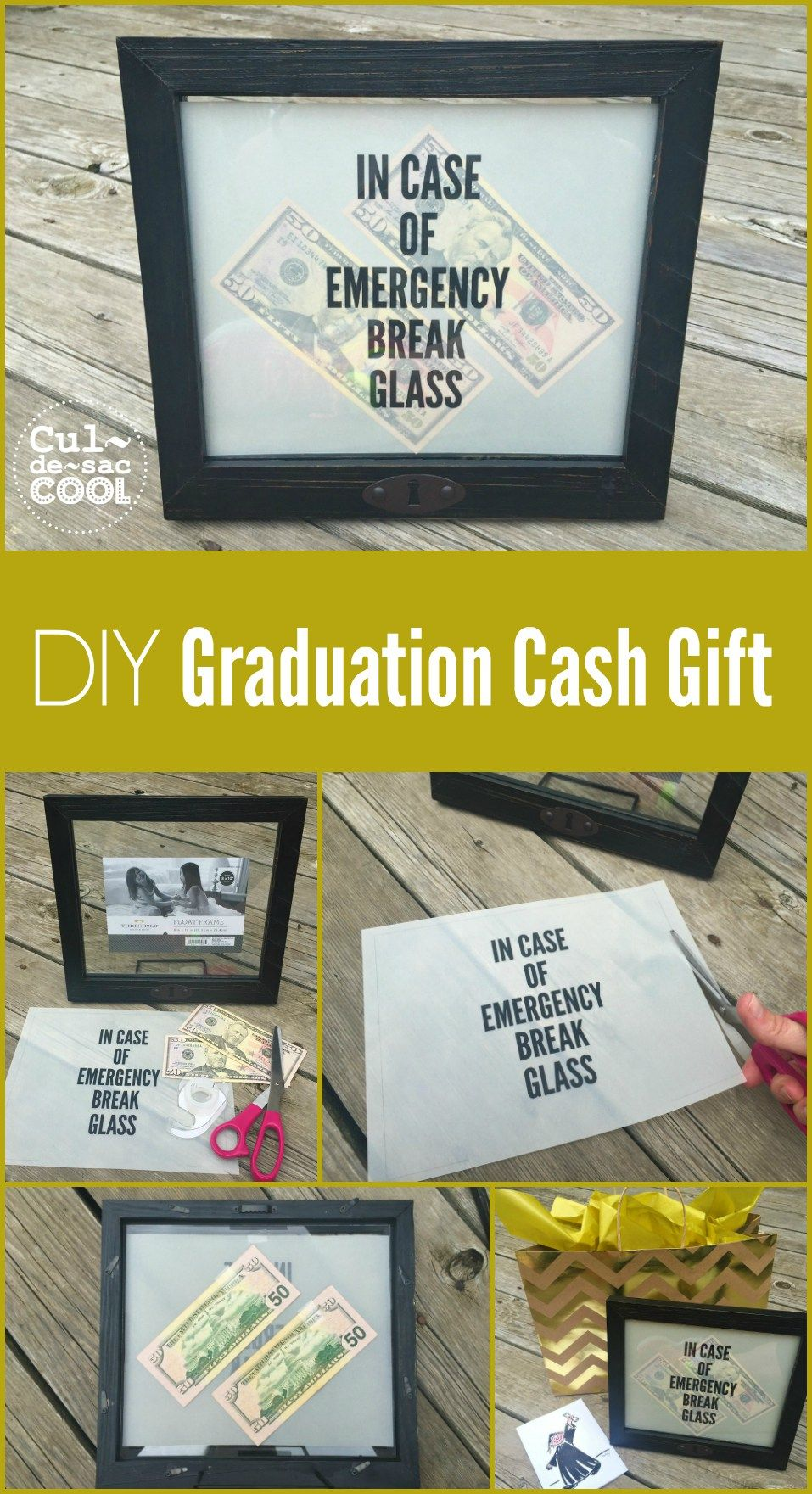 DIY Graduation Cash Gift that any Graduate would LOVE! | Wreaths ...