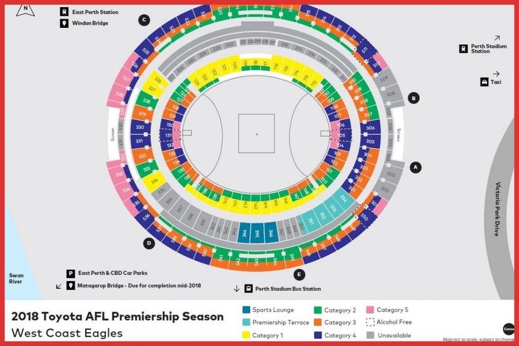 Seating Plan Perth Stadium Di 2020