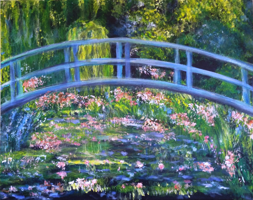 Monet S Bridge Over A Pond Of Water Lilies Art Party Pittsburgh