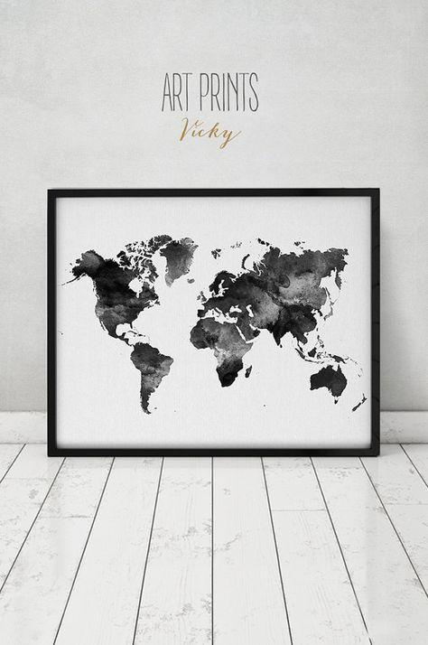 World map watercolor print travel map large world map minimalist world map watercolor print travel map large world map minimalist world map gumiabroncs Images