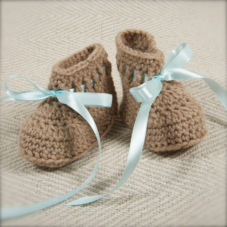 Baby Boy Booties Handmade Baby Booties Crochet Baby Clothes New