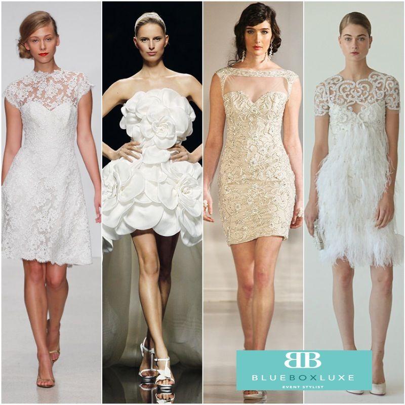 Wedding Entourage Hairstyle: Short Wedding Dress, Bridal Style