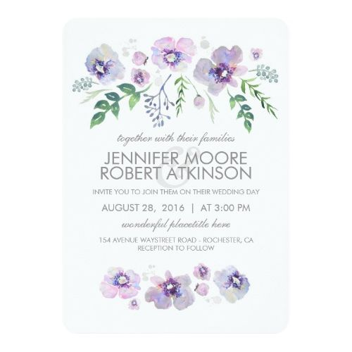 Purple Cactus and Succulent Wreath Modern Calligraphy Customizable Baby or Bridal Shower Invitation PURPLE CACTUS