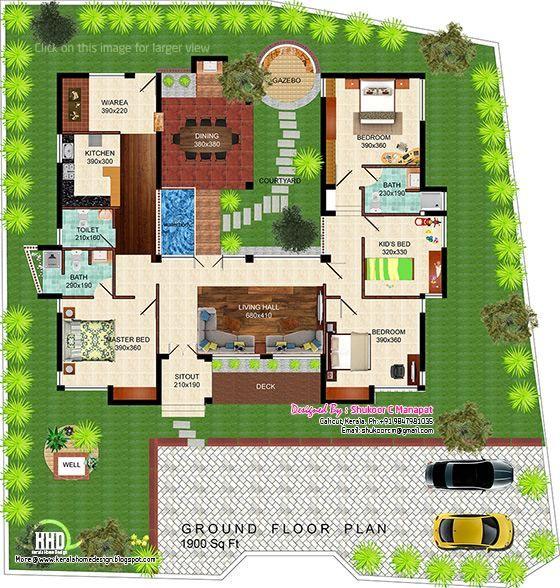 Eco Friendly Single Floor Kerala Villa Eco Friendly House Plans Eco Friendly House Floor Plans