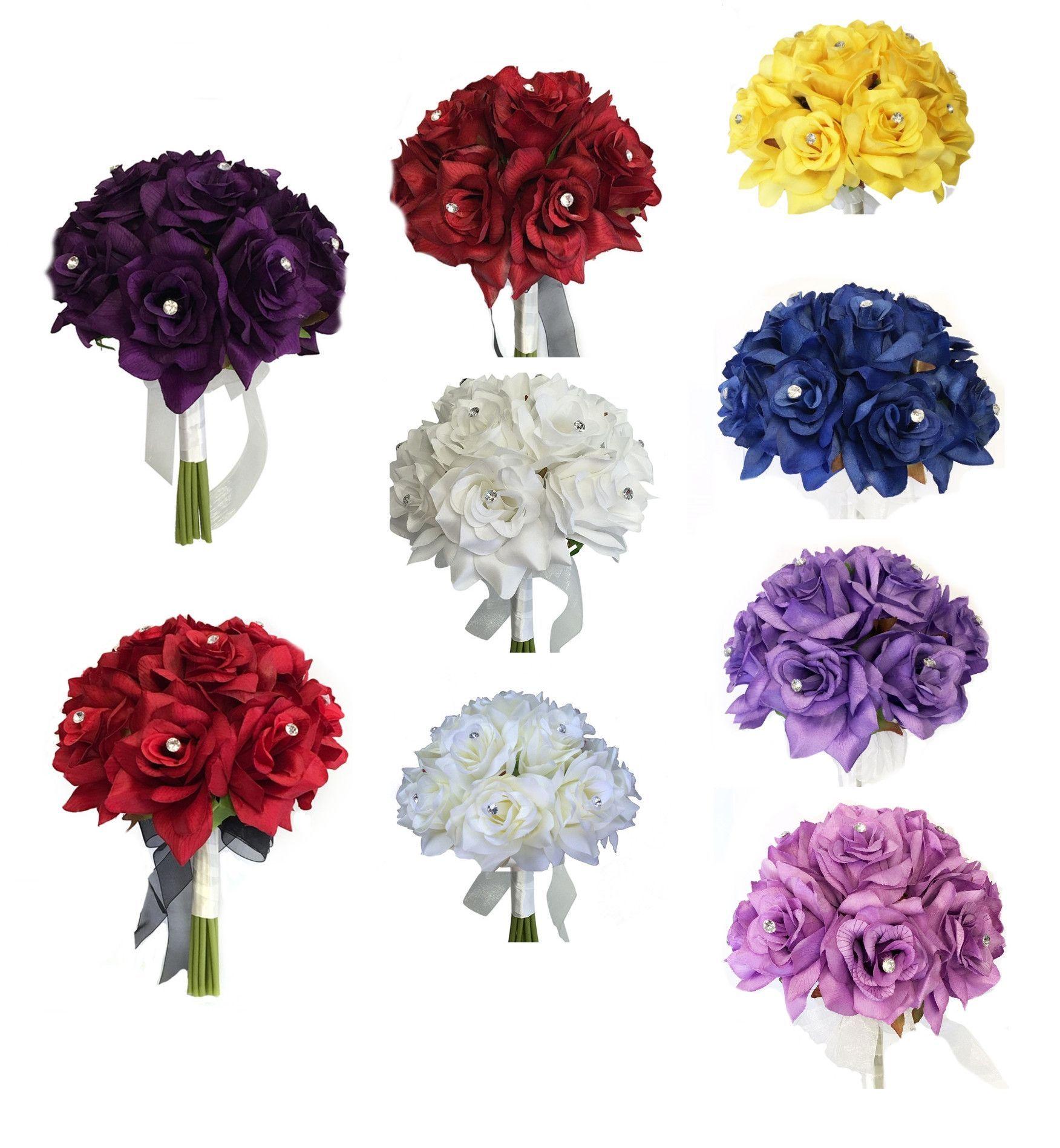 1 Dozen Rose bouquet-Roses with Rhinestones-Pick rose colors