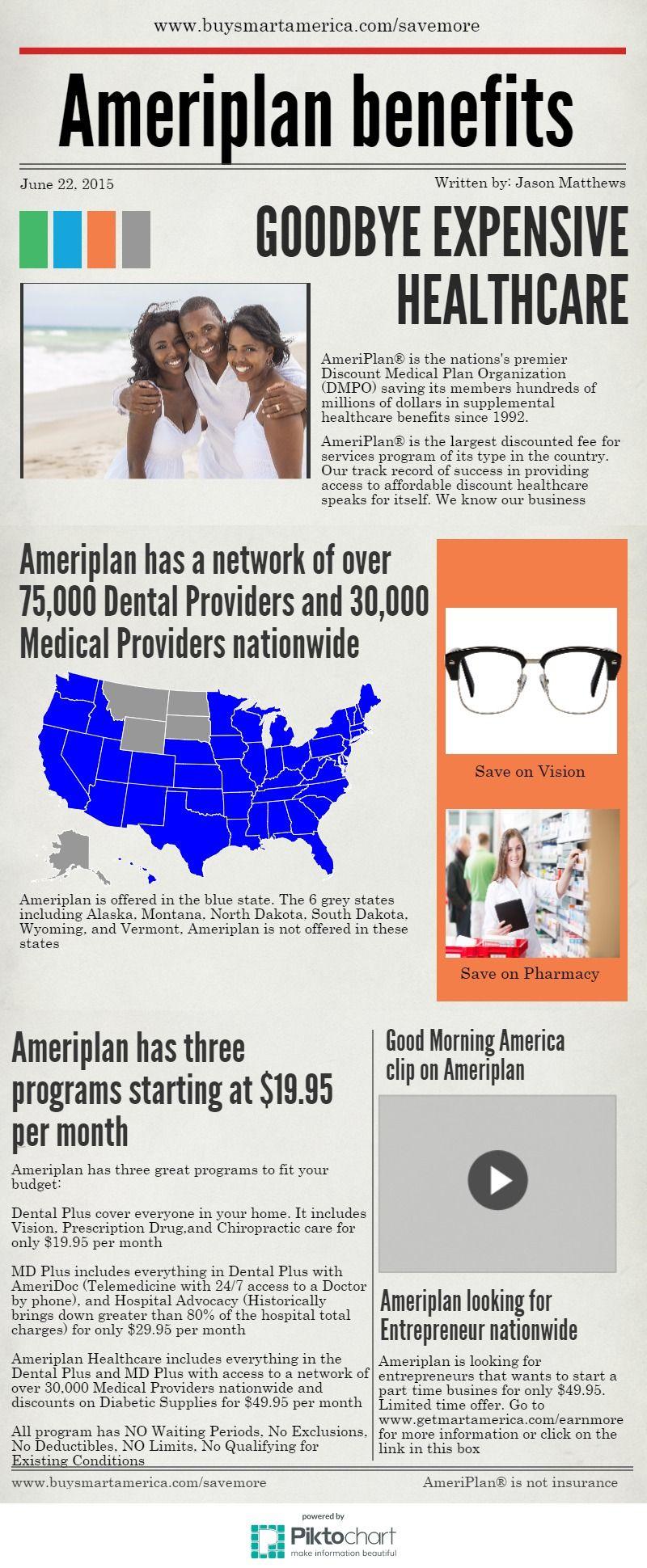 Ameriplan Benefits Piktochart Mobile App Health Care