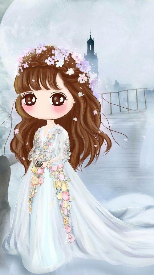 Cute Girl And Wallpaper Image Dibujos Kawaii Dibujos De