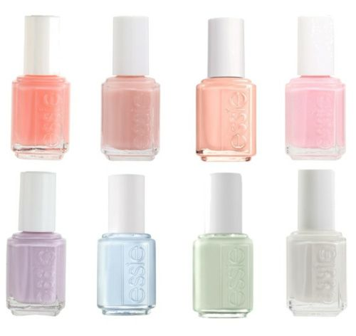 Pastel Colored Nail Polishes By Essie